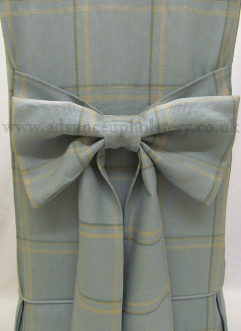 Image showing a close up of the bow on the Laura Ashley loose covers