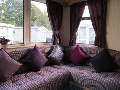 An image showing caravan upholstery, curtains, scatter cushions made by Advance Upholstery, Bispham, Blackpool